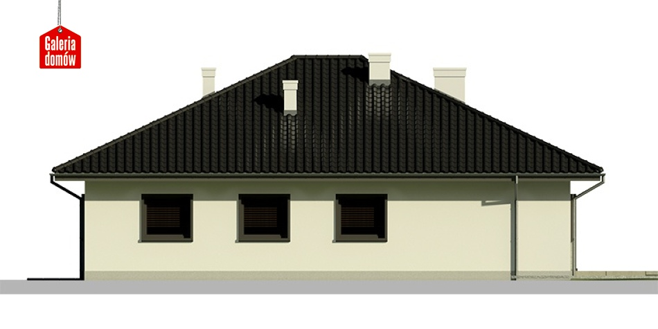 Dom przy Słonecznej 4 - elewacja tylna