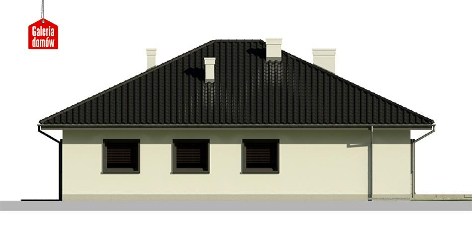 Dom przy Słonecznej 5 bis - elewacja tylna