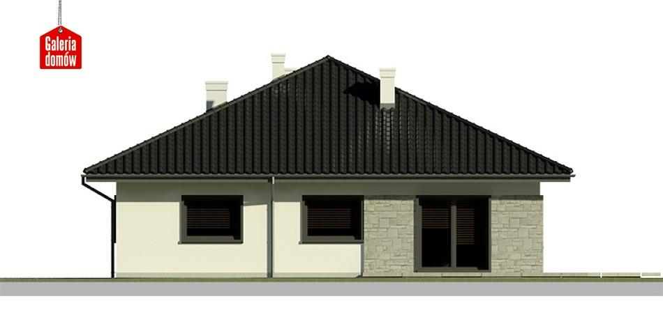 Dom przy Słonecznej 5 - elewacja lewa