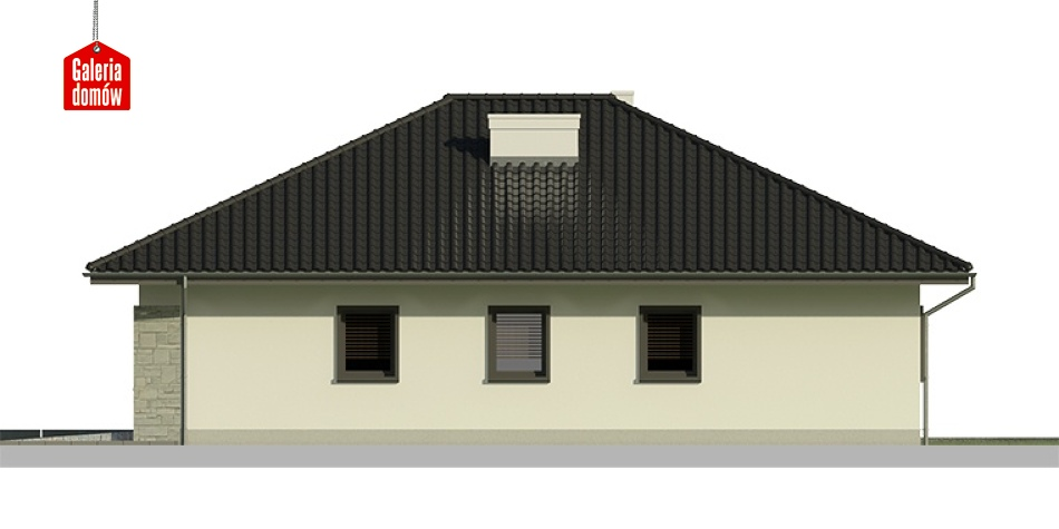 Dom przy Słonecznej 6 bis - elewacja prawa