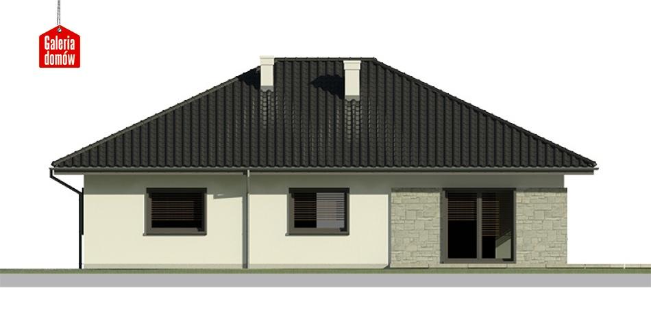 Dom przy Słonecznej 6 bis - elewacja lewa
