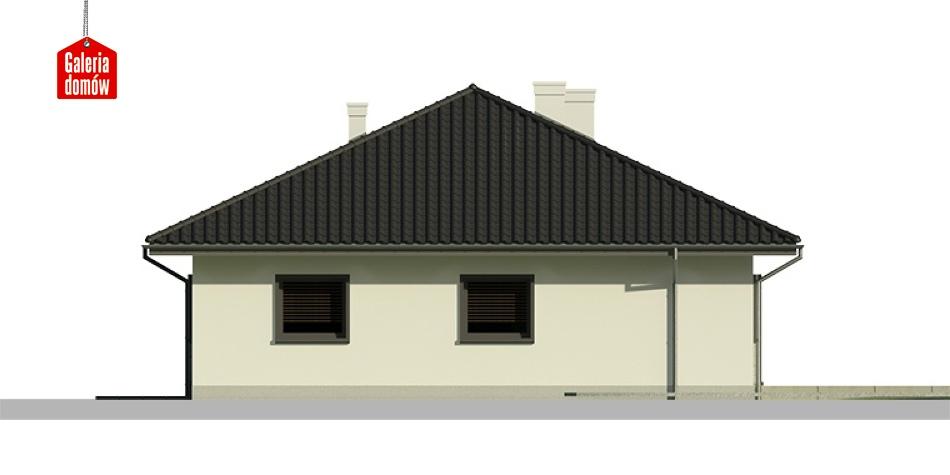 Dom przy Słonecznej 6 - elewacja tylna