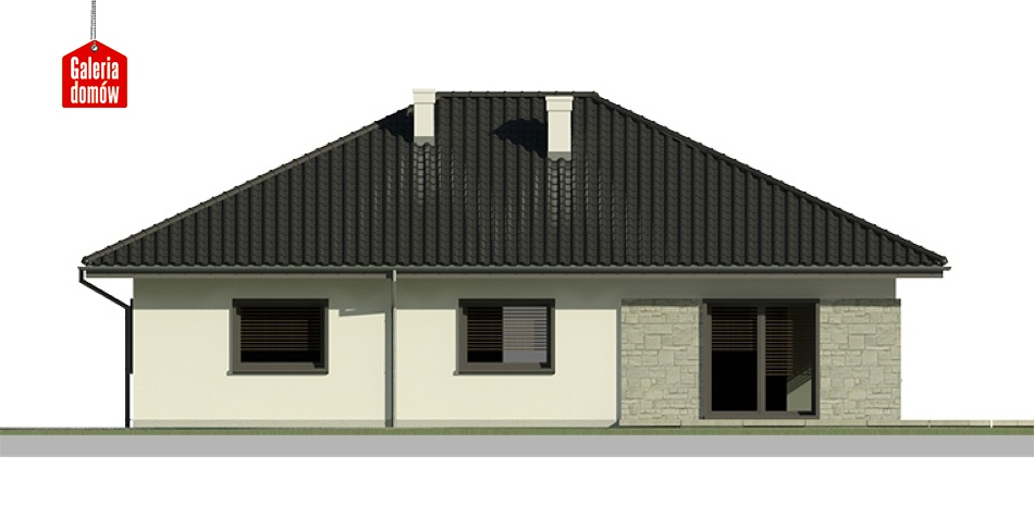 Dom przy Słonecznej 6 - elewacja lewa