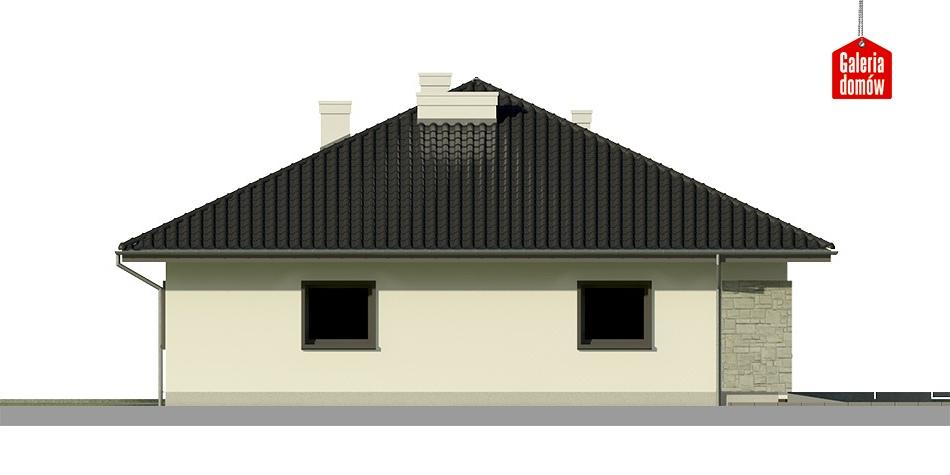 Dom przy Słonecznej 7 bis - elewacja prawa