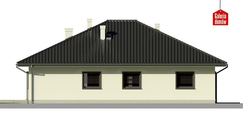 Dom przy Słonecznej 7 bis - elewacja tylna