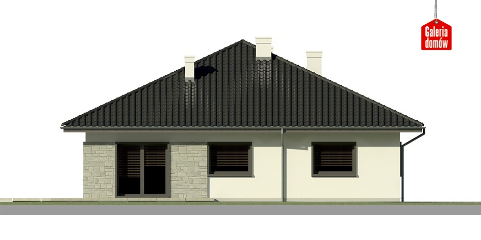 Dom przy Słonecznej 7 bis - elewacja lewa