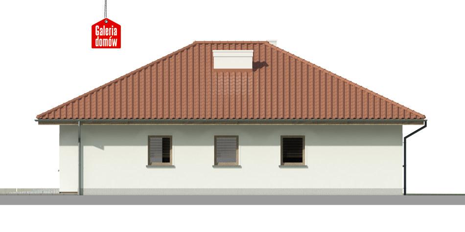 Dom przy Słonecznej 8 - elewacja prawa