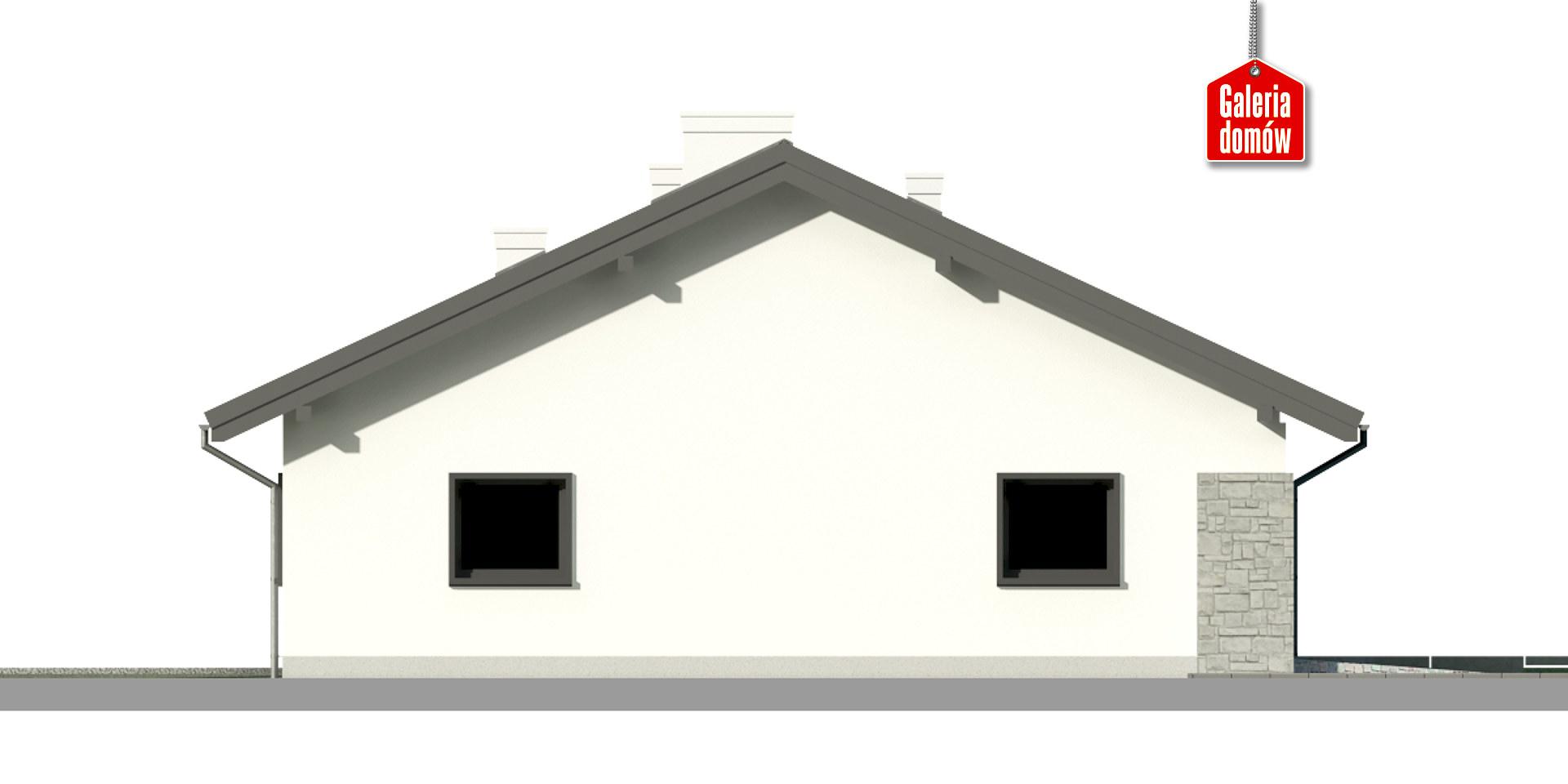 Dom przy Słonecznej 9 - elewacja prawa