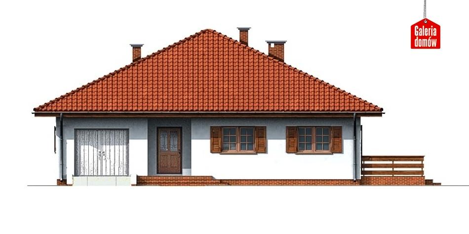 Dom przy Słonecznej - elewacja frontowa
