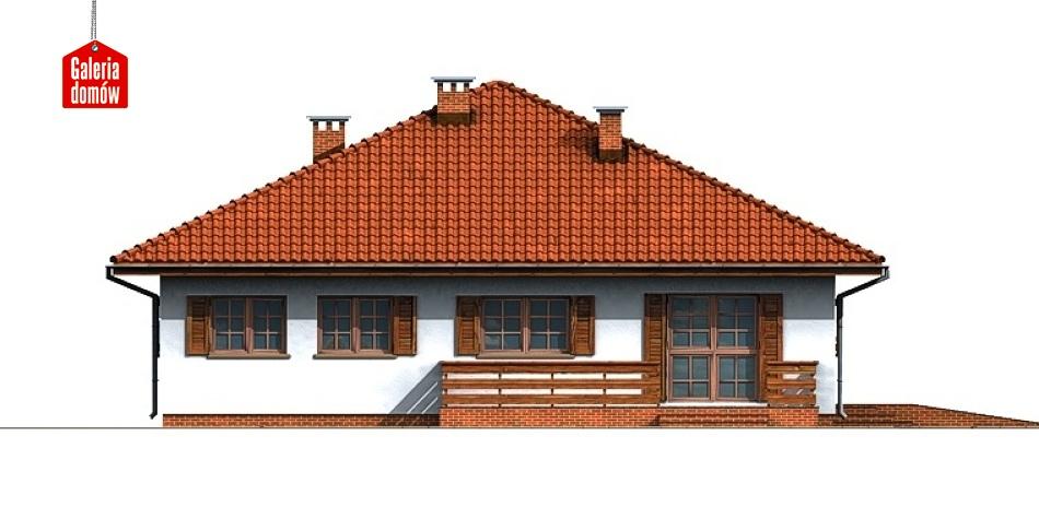 Dom przy Słonecznej - elewacja lewa