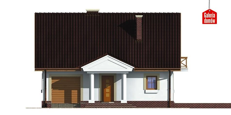 Dom przy Sosnowej - elewacja frontowa