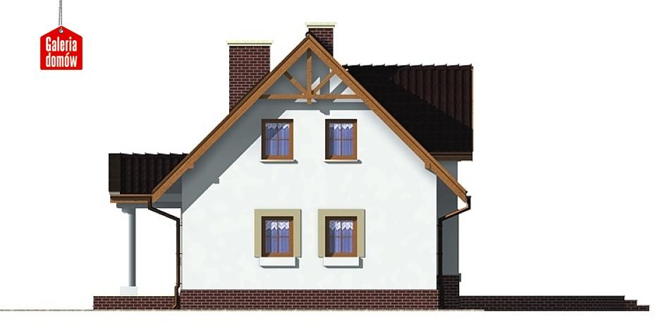 Dom przy Sosnowej - elewacja prawa