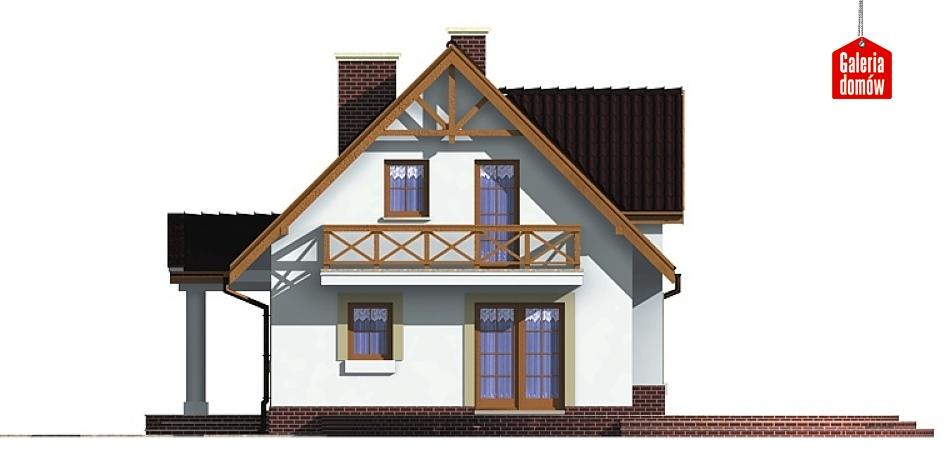 Dom przy Sosnowej - elewacja lewa