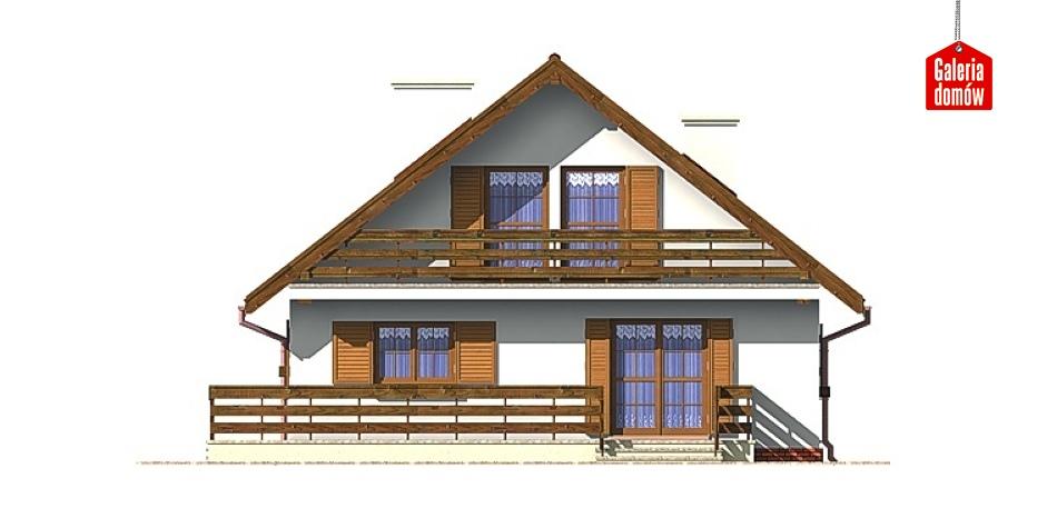 Dom przy Stokrotek - elewacja frontowa