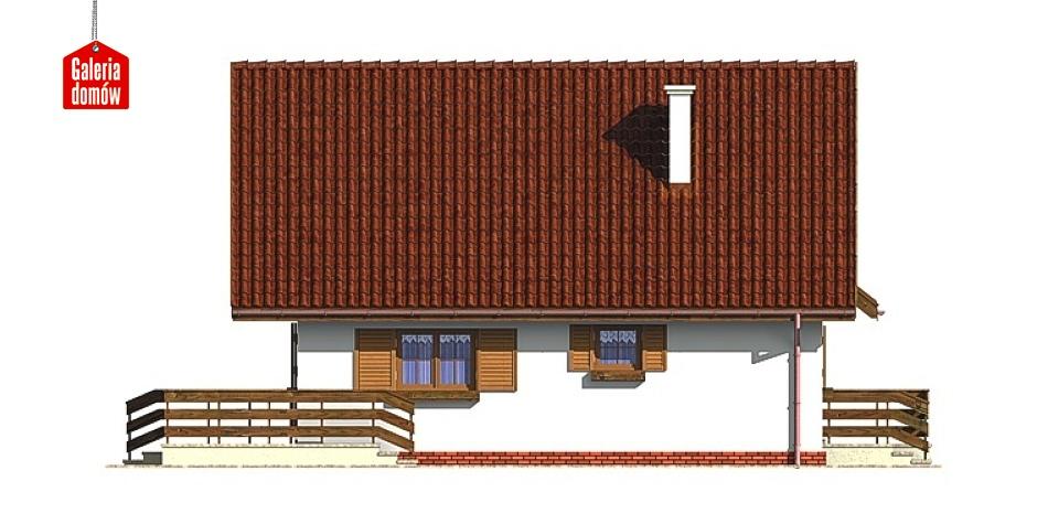 Dom przy Stokrotek - elewacja prawa