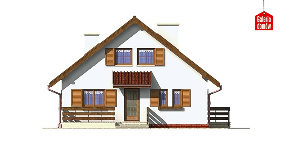 Dom przy Stokrotek - elewacja tylna