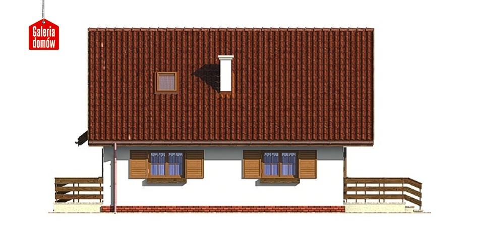 Dom przy Stokrotek - elewacja lewa