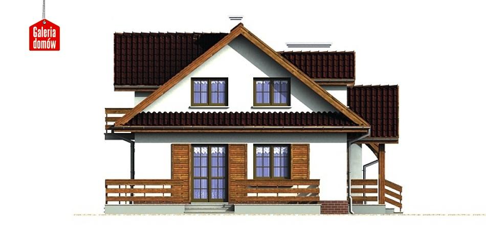 Dom przy Szarotek - elewacja lewa