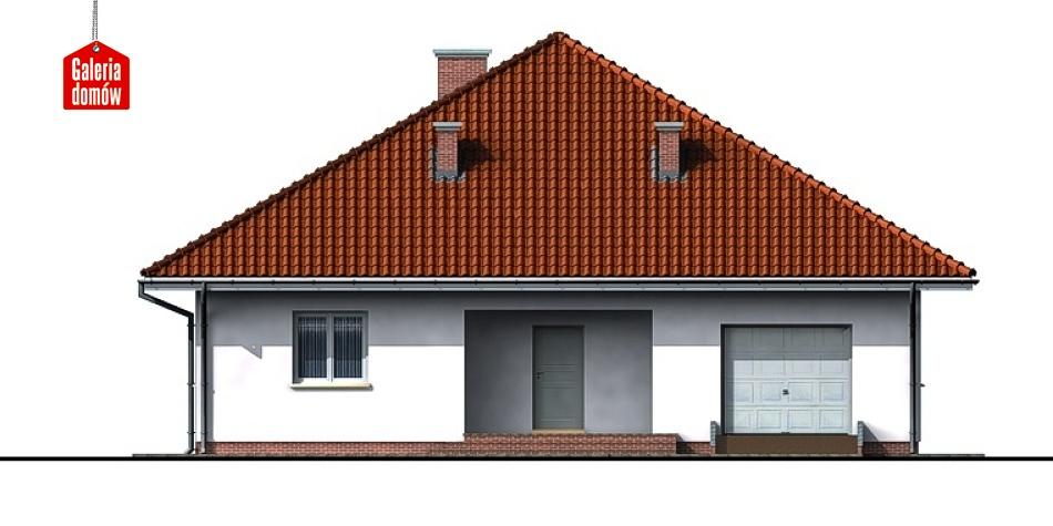 Dom przy Szczęśliwej - elewacja frontowa