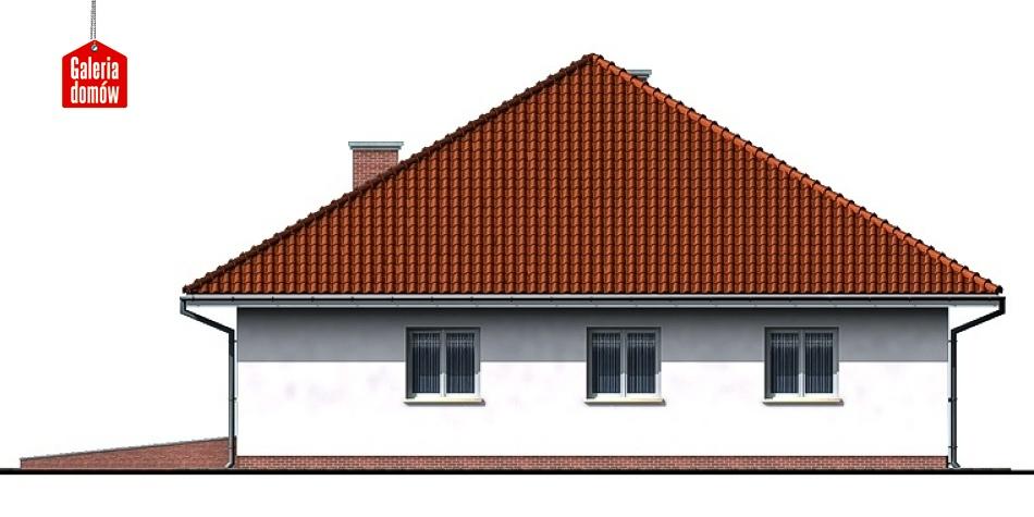 Dom przy Szczęśliwej - elewacja prawa