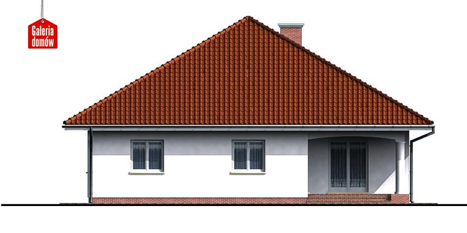Dom przy Szczęśliwej - elewacja tylna