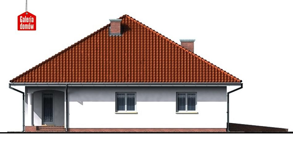 Dom przy Szczęśliwej - elewacja lewa