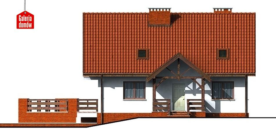 Dom przy Szkarłatnej - elewacja frontowa