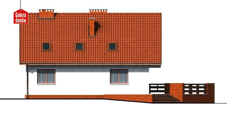 Dom przy Szkarłatnej - elewacja tylna