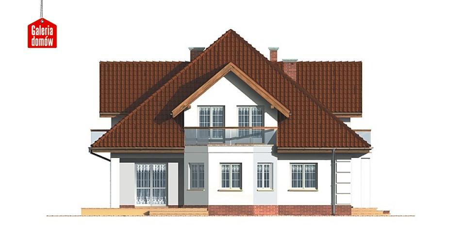 Dom przy Szmaragdowej - elewacja frontowa