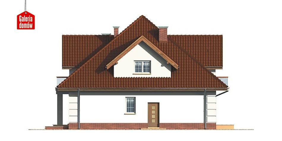 Dom przy Szmaragdowej - elewacja tylna
