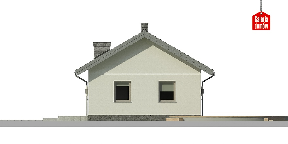 Dom przy Topolowej 2 - elewacja frontowa