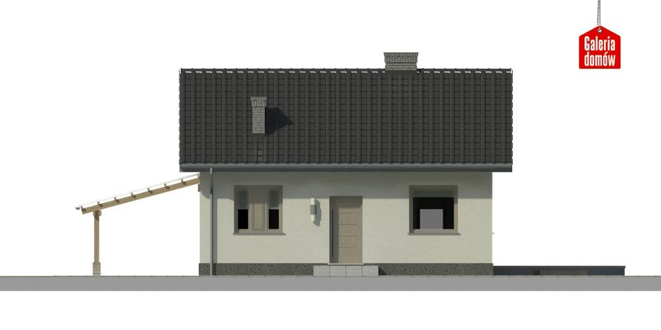 Dom przy Topolowej 2 - elewacja prawa