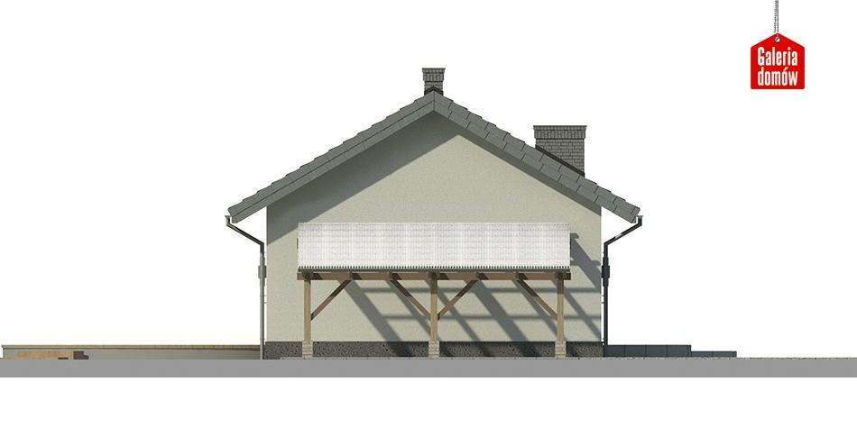 Dom przy Topolowej 2 - elewacja tylna