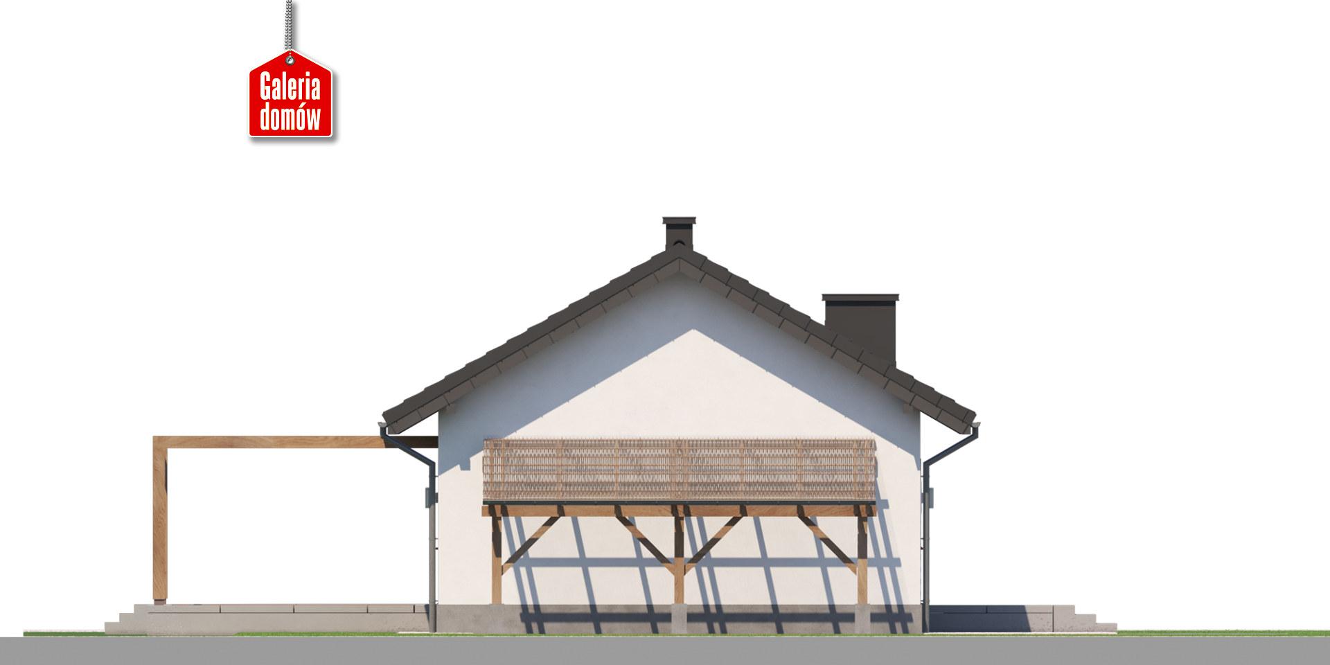 Dom przy Topolowej 4 - elewacja prawa