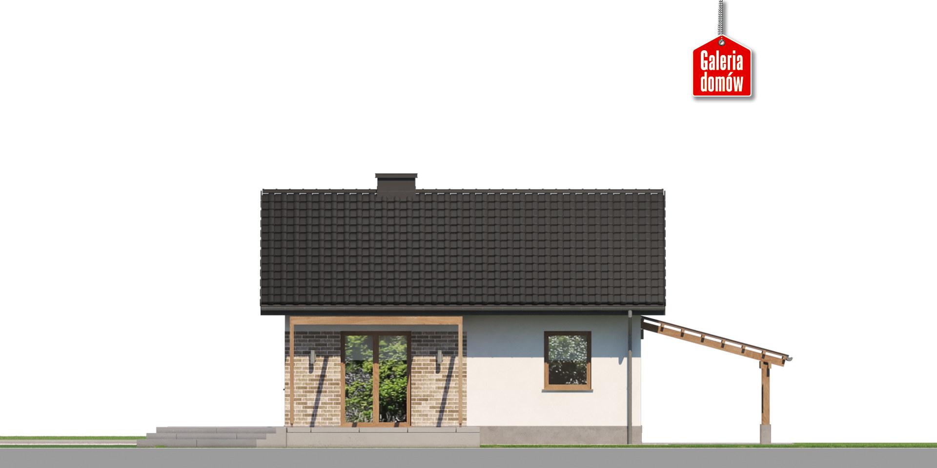 Dom przy Topolowej 4 - elewacja tylna
