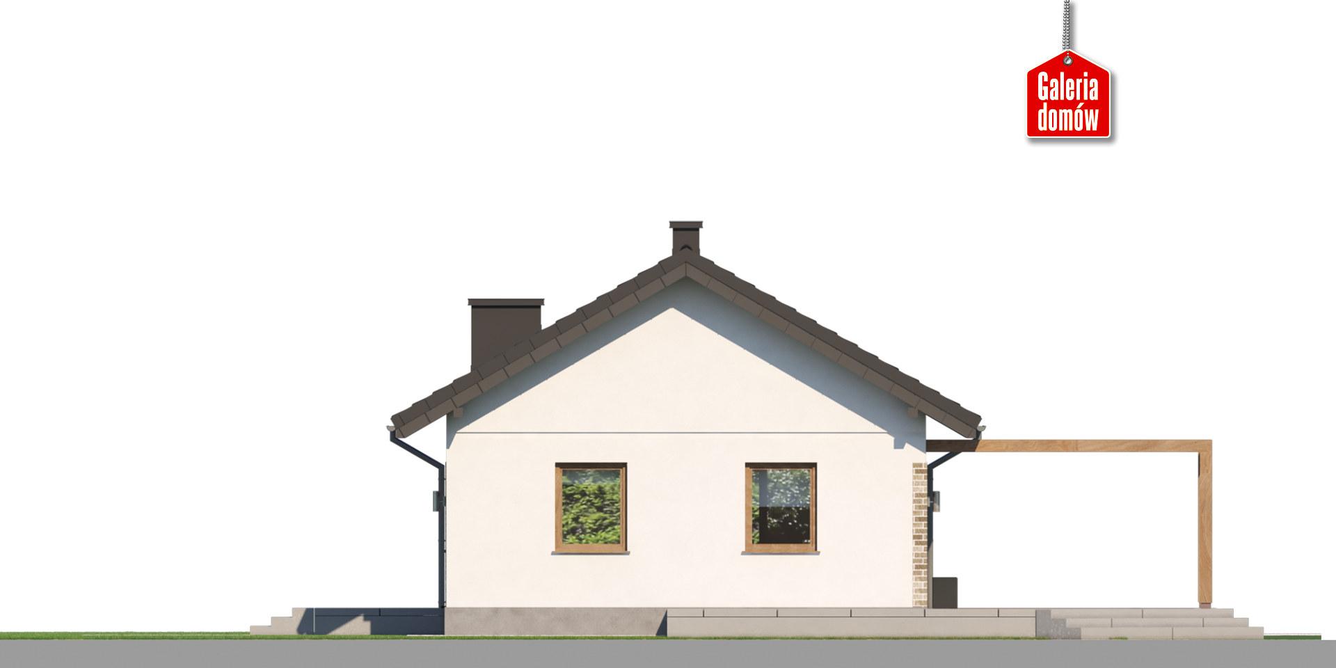 Dom przy Topolowej 4 - elewacja lewa