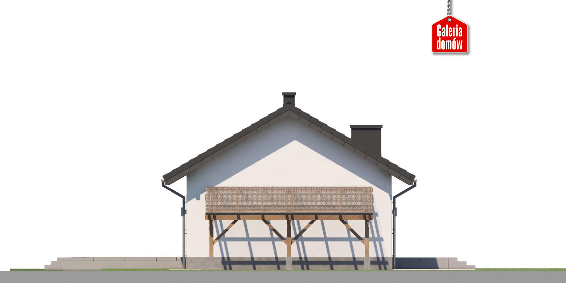 Dom przy Topolowej 5 - elewacja prawa