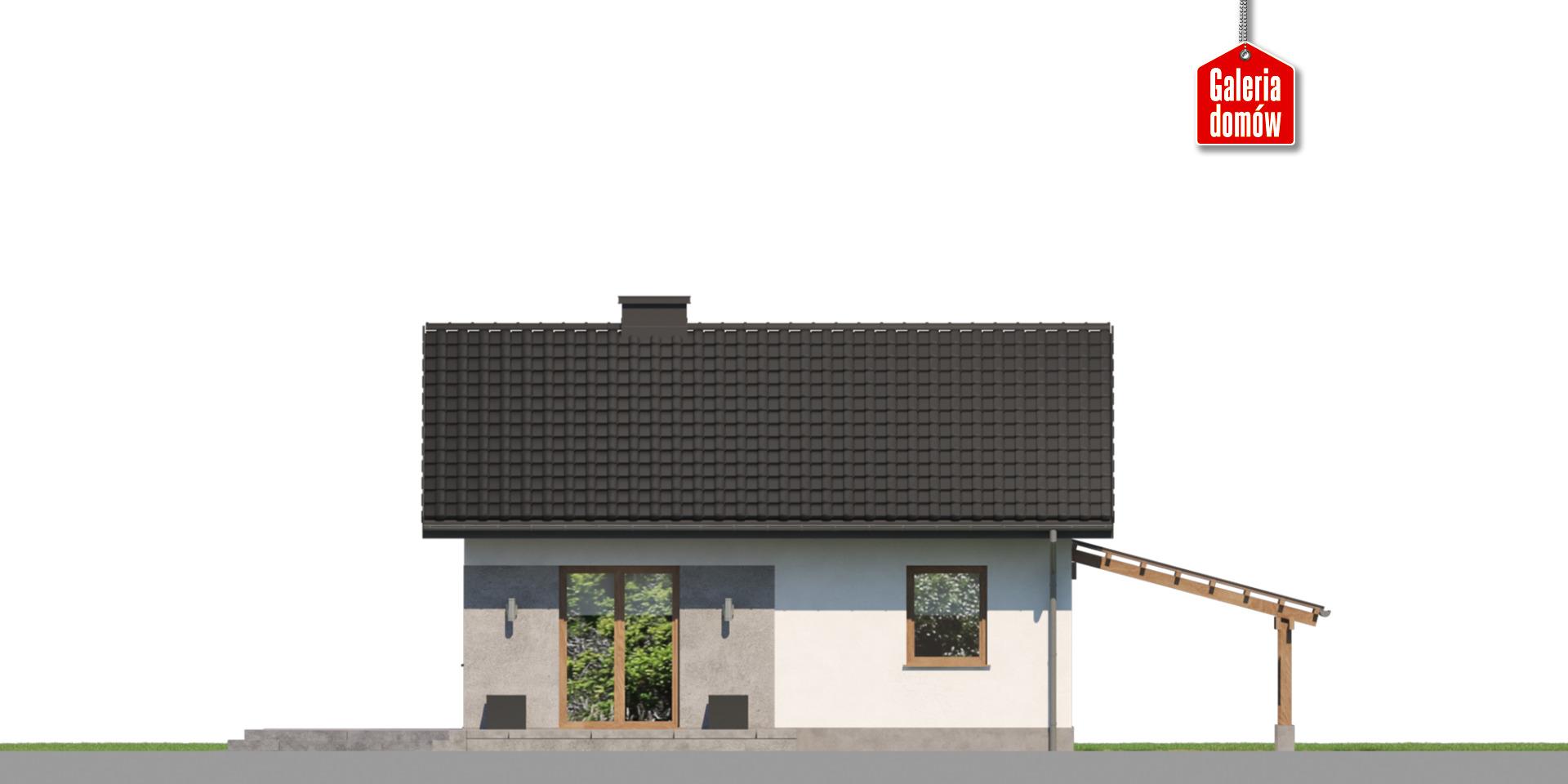 Dom przy Topolowej 5 - elewacja tylna
