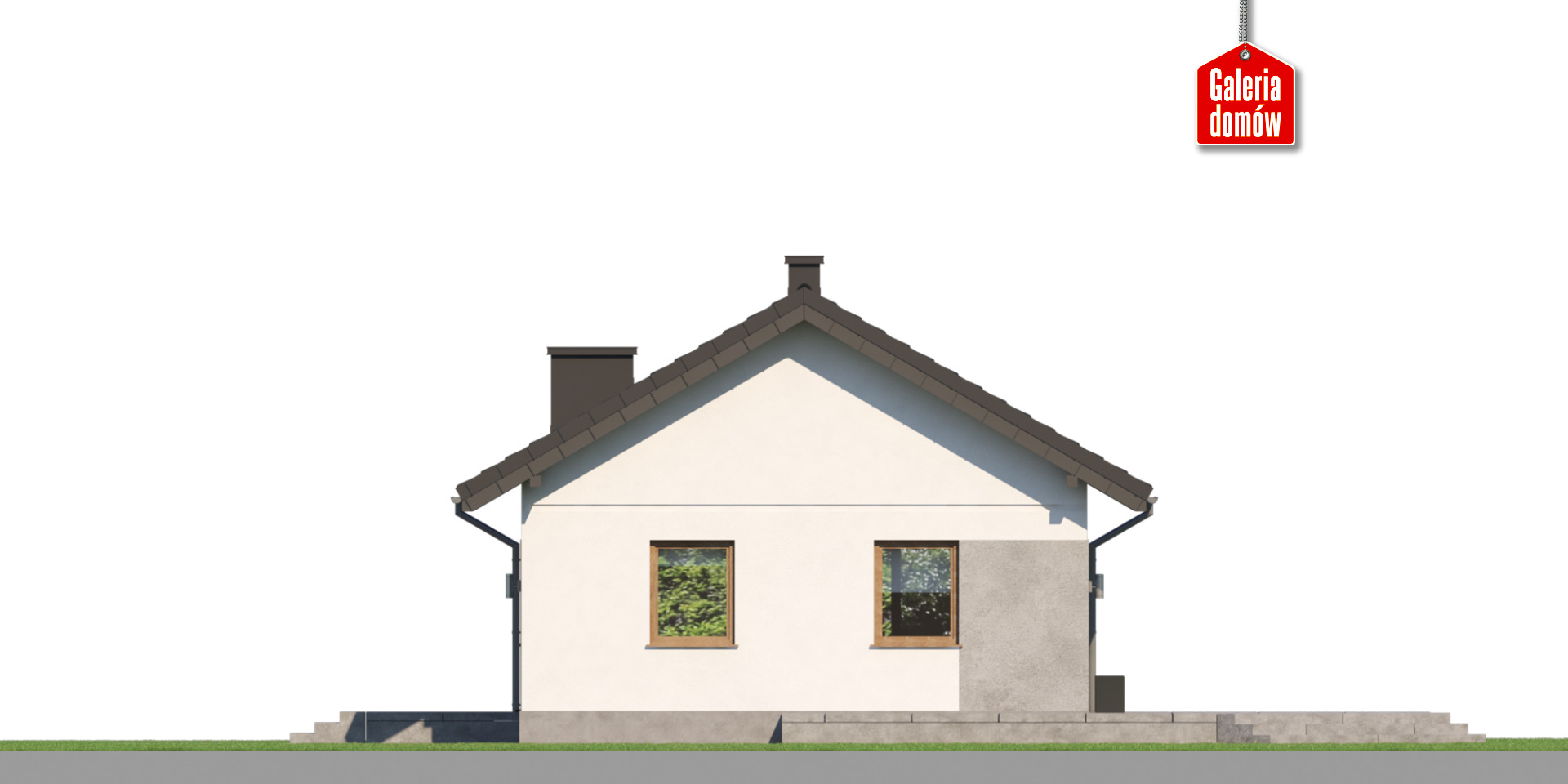 Dom przy Topolowej 5 - elewacja lewa