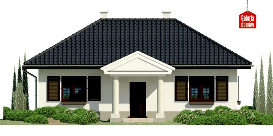 Dom przy Topolowej - elewacja frontowa