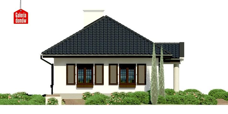 Dom przy Topolowej - elewacja lewa