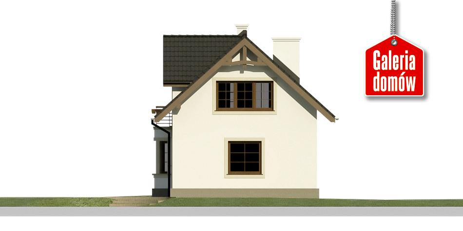 Dom przy Waniliowej 2 - elewacja tylna