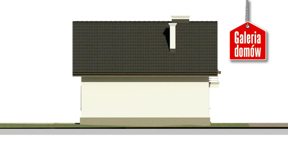 Dom przy Waniliowej 2 - elewacja lewa