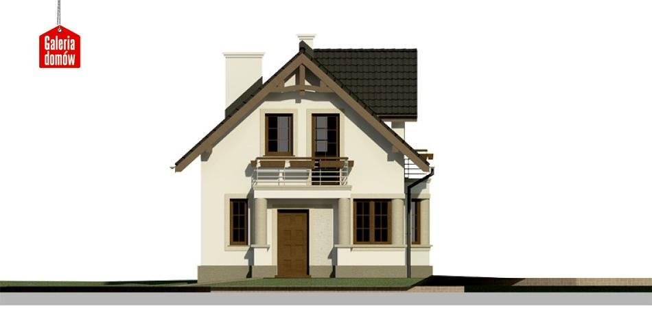 Dom przy Waniliowej - elewacja frontowa