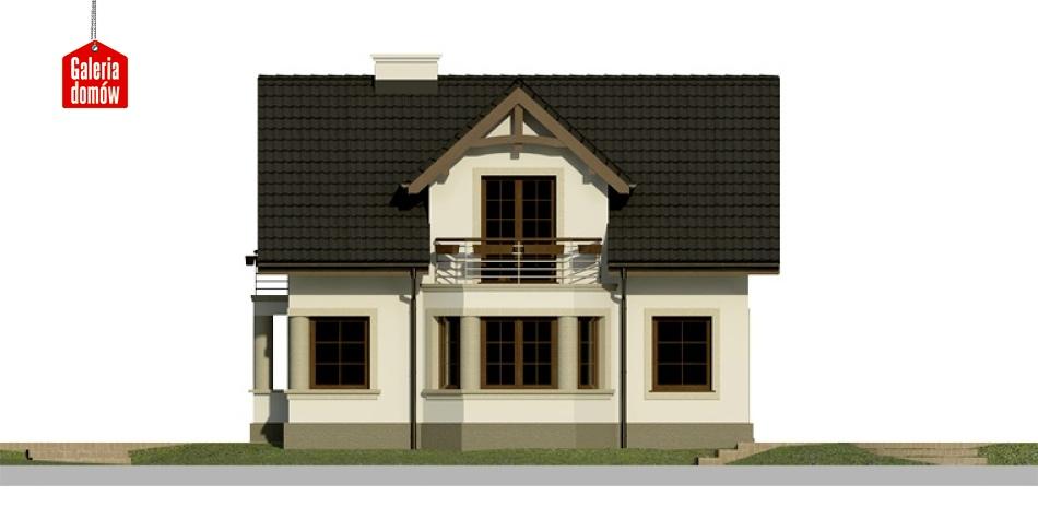 Dom przy Waniliowej - elewacja prawa