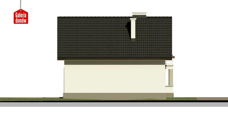 Dom przy Waniliowej - elewacja lewa