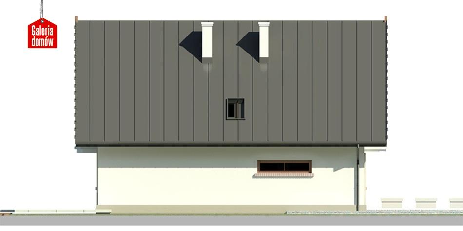 Dom przy Wiązowej 2 - elewacja prawa