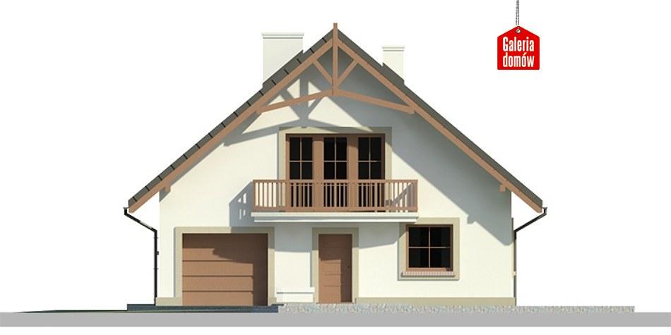 Dom przy Wiązowej 2 - elewacja tylna