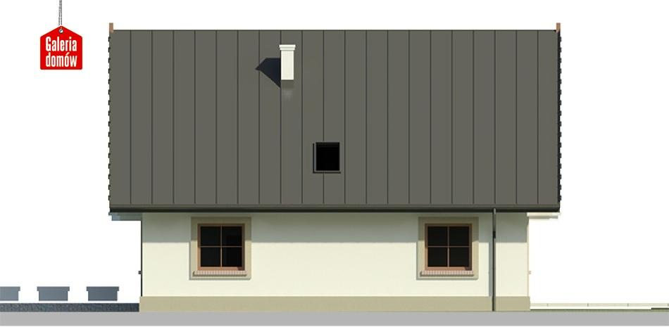Dom przy Wiązowej 2 - elewacja lewa