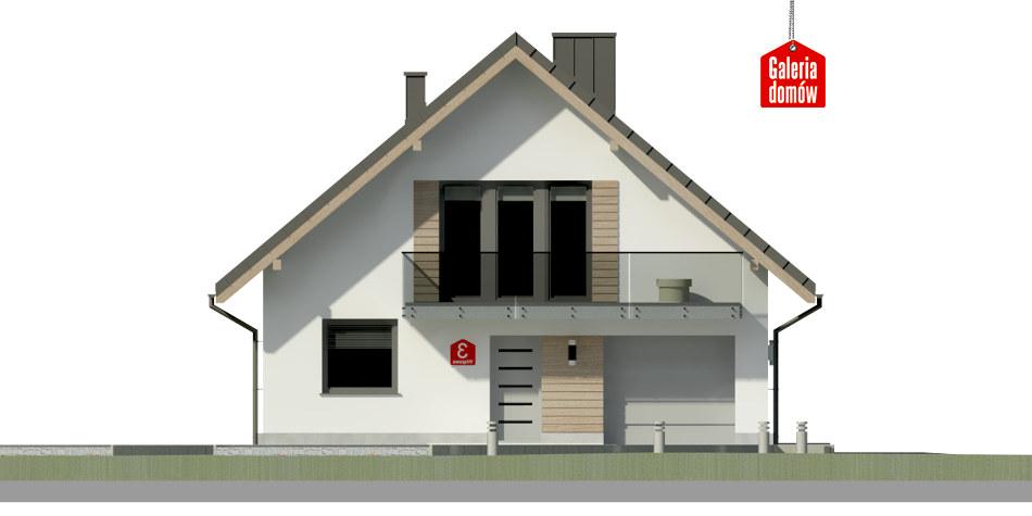 Dom przy Wiązowej 3 - elewacja frontowa